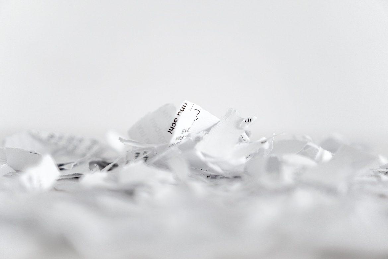 destrucción de documentos